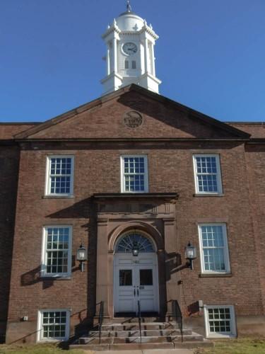 Original entrance East Hartford Town Hall
