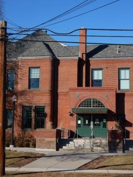 Front door of Raymond Library