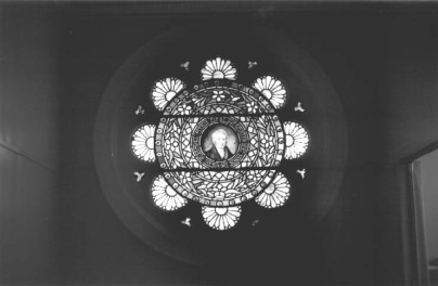 Memorial window - Samuel Pitkin (started the Sunday School in the Congregational Church)