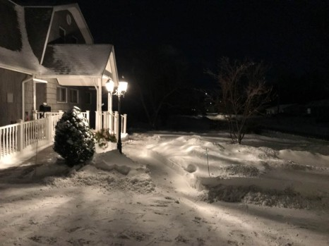 Driveway, ramp, porch, path, all cleared - time for bed