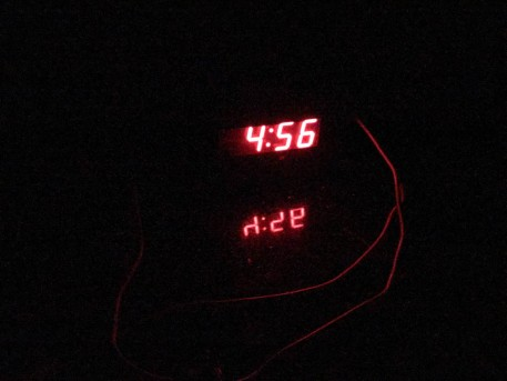 This is my clock at my favorite time to wake up.