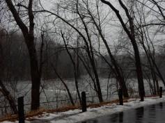 Farmington River, near the bar we visit on Saturdays