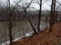 Stone arch bridge over the Farmington River, Windsor, CT