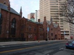 Cathedral buildings along Church Street.