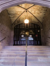 Entrance to the Chapter House. The final building of the complex.