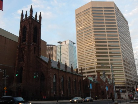 Christ Church Cathedral in downtown Hartford. I used to work in the building behind the church.