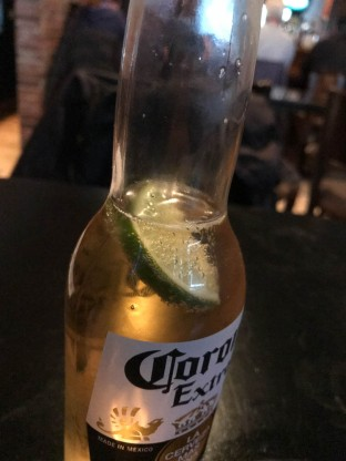 A Corona finds her lime.