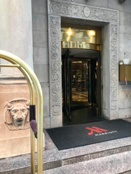 Revolving door at the Marriott East Side.