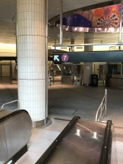 This is inside the new Hudson Yards station. You can take the #7 train right to the Javits Center.