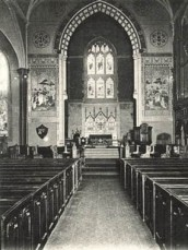 Note the little doors at the end of each pew. - From NRHP Nomination