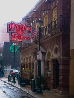 If I had been in Philadelphia on Sunday, this is where I would have liked to watch the game. That's the oldest pub in the city - McGillin's Olde Ale House opened in 1860. I ate there every time in the city and my brother and I ate there one year when I met him in the city when he was there for a teacher conference.