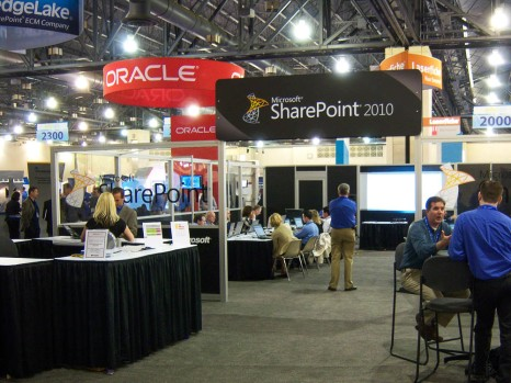 This was the show floor. I was speaking about our experience with Microsoft SharePoint