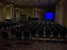 I was speaking at this conference. This was the room. The door in the back didn't lead anywhere - I checked.