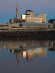 The tall building is the Travelers Tower. When I moved here, it was the tallest building in CT.