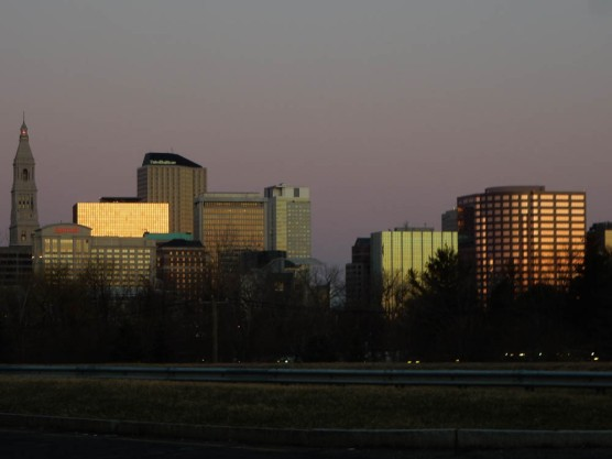 Hartford and East Hartford (where the photographer is) are protected by levies.