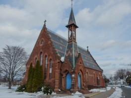 St. John's Episcopal Church on a cold winter day.