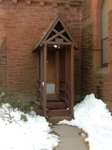 Entrance door to the vestry.