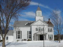 The Congregational Church, north of the town green.