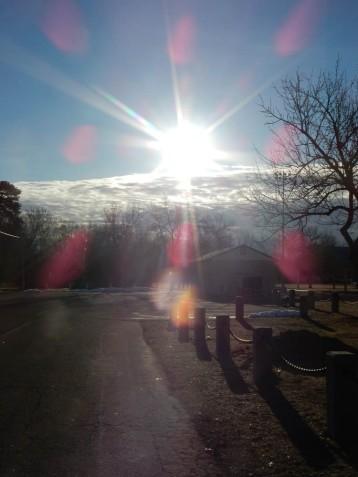 Maddie had us walking straight into the rising sun.