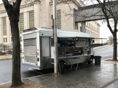 Food offering at the courthouse. Actually, I like a good food truck.
