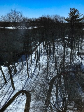 Burlington still had quite a bit of snow on the ground.