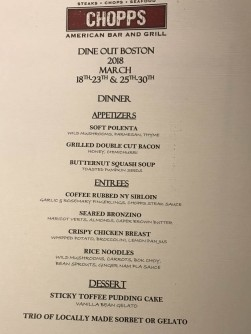 This menu was hard to resist.