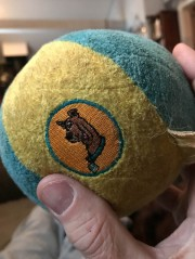 "Maddie has had this ball for well over a year. I didn't know why my wife called it a ""Scooby Doo"" ball."