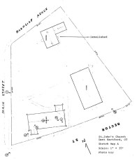 NRHP - map showing where the parish house used to be.