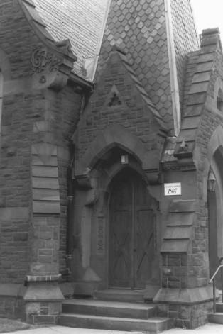 NRHP - West entrance of the tower doorways.