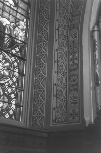HRHP - Stenciling inside the church