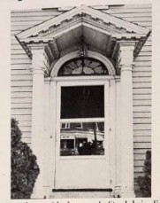 This is the portico to the parish house that was demolished. The portico has been preserved.
