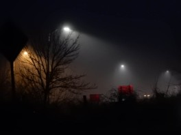Darkness, fog, it's enough to make a person a pessimist.