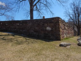 This is a pretty substantial prison wall.