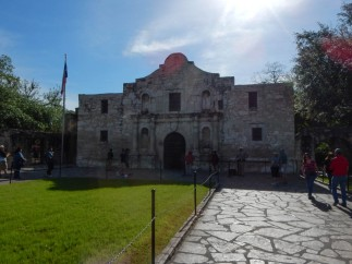 One of the most recognizable buildings in the United States. The Church at the Alamo Mission.