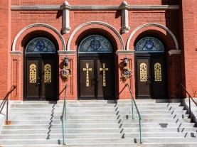 Front entrance of St. Gabriel's Church.