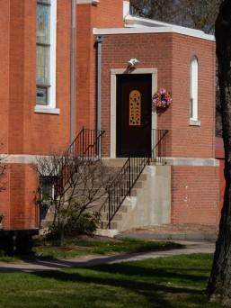 Rear door of St. Gabriel's.
