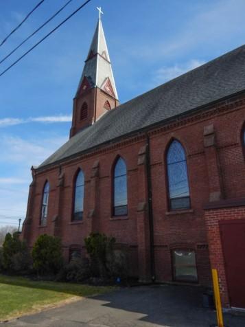 Along side St. Joseph's Church