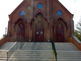 St. Joseph's Church front entrance.