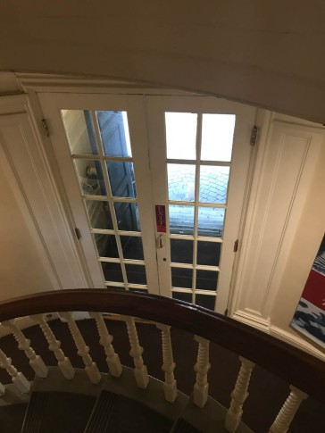 From the staircase