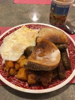 Breakfast, in case you were wondering.