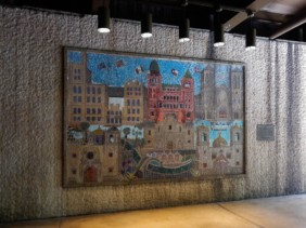 Beautiful mosaic inside one of the underpasses.