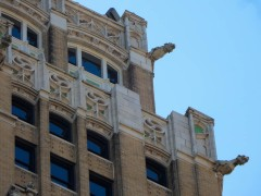 The tour guide said these gargoyles were featured in Ghostbusters, but I can't find any reference that supports that.