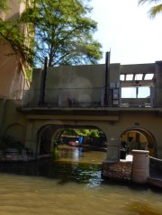 That's a flood gate (a type of door) that prevents flooding of certain sections of the river.