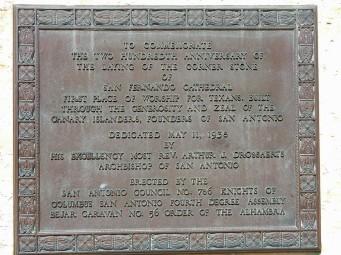 Commemoration plaque.