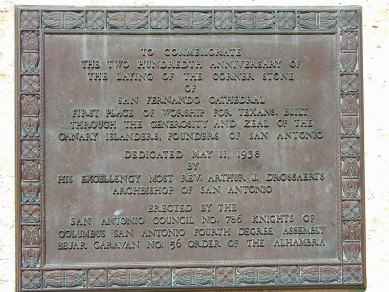 Commemoration plaque.