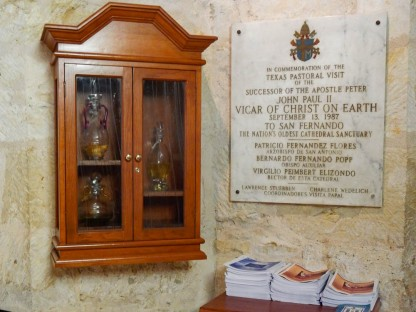 This is the only Cathedral in Texas that the Pope has visited. I love the cabinet.