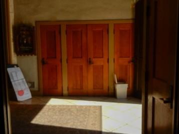 Closet doors.