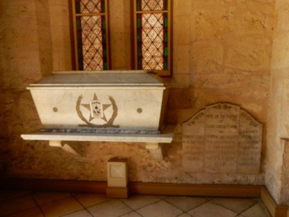 The tomb holding the remains of the Alamo survivors.