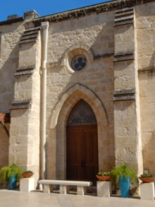 Side door from the Cathedral to the courtyard between it and the Cafe