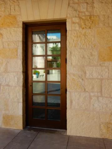 Door to the cafe.